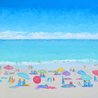 Jewel of a day, beach painting by Jan Ma