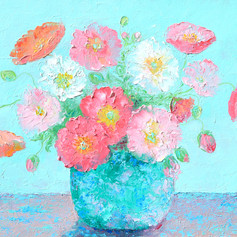 A New Day - Poppies Still Life
