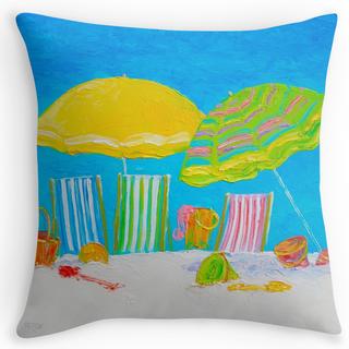 Beach color throw pillow