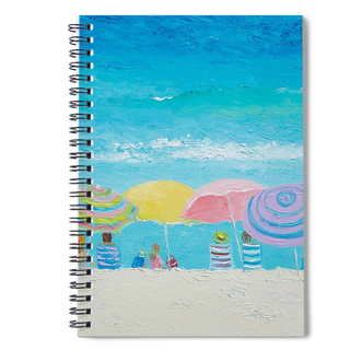 Spiral notebook with beach theme