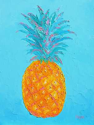 Tropical pineapple painting by Jan Matso