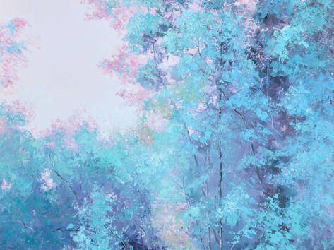 Trees Landscape at Dusk