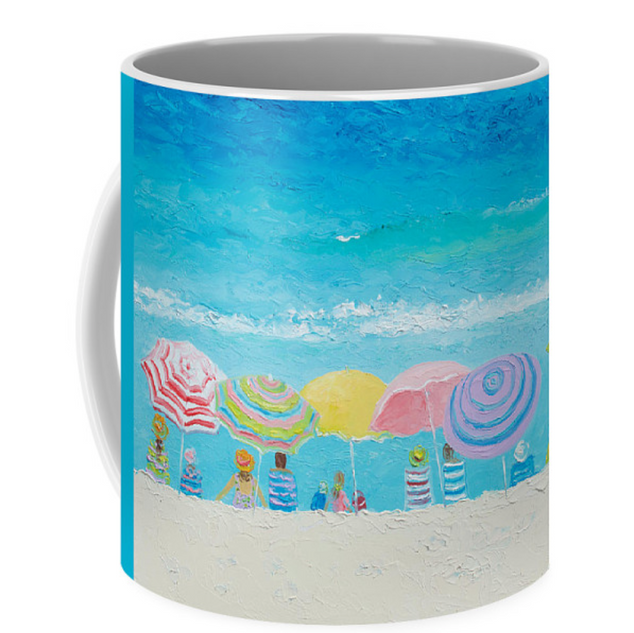 Color of summer coffee mug