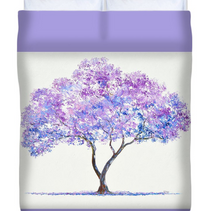 Jacaranda Tree duvet cover