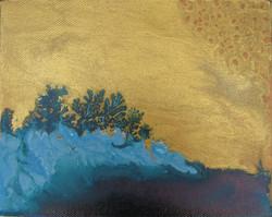 Azul ola oro