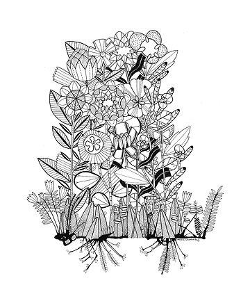 Ink Garden 001
