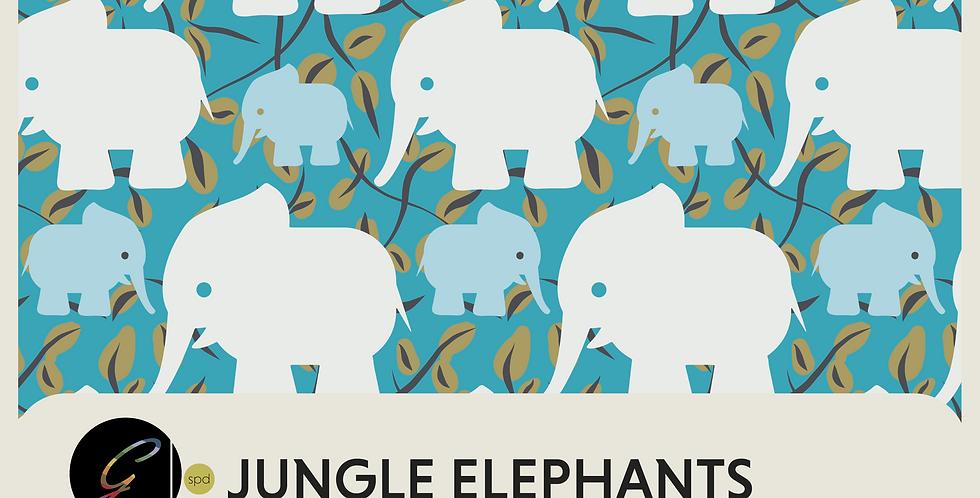 JUNGLE ELEPHANTS - 3 PATTERNS