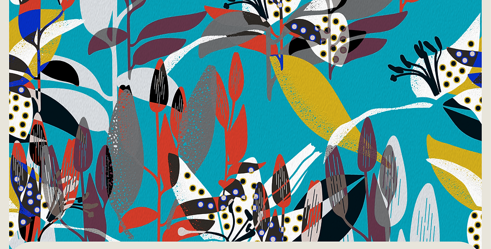 DOTS AND FLOWERS :  DIGITAL PATTERN