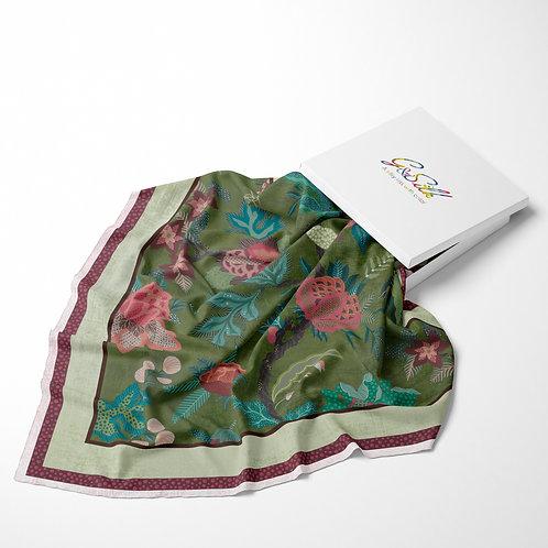 Jacobean Green Pink 100 - by Sarah Thorpe