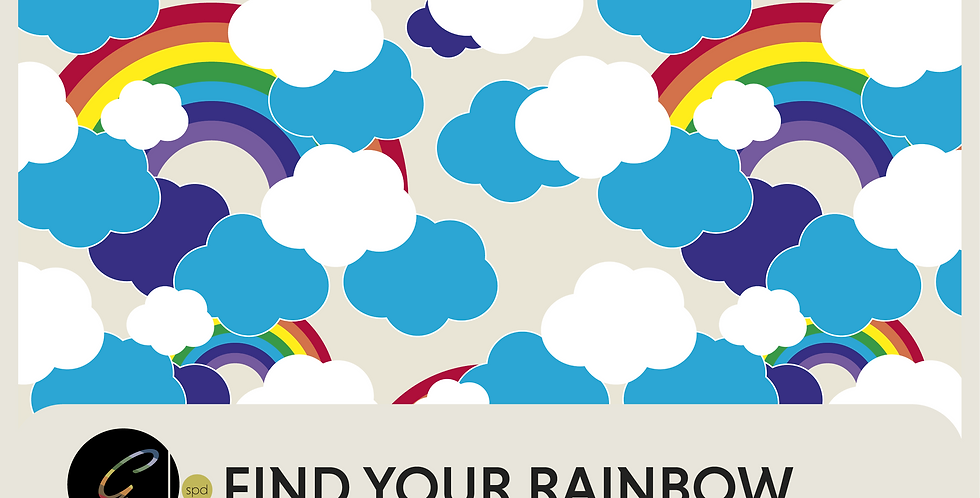 FIND YOUR RAINBOW  -  SPOT GRAPHIC + 2 PRINTS