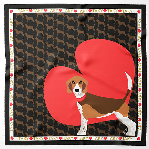 CUSTOMIZED PET SCARF WITH HEART - by Gloria Franco