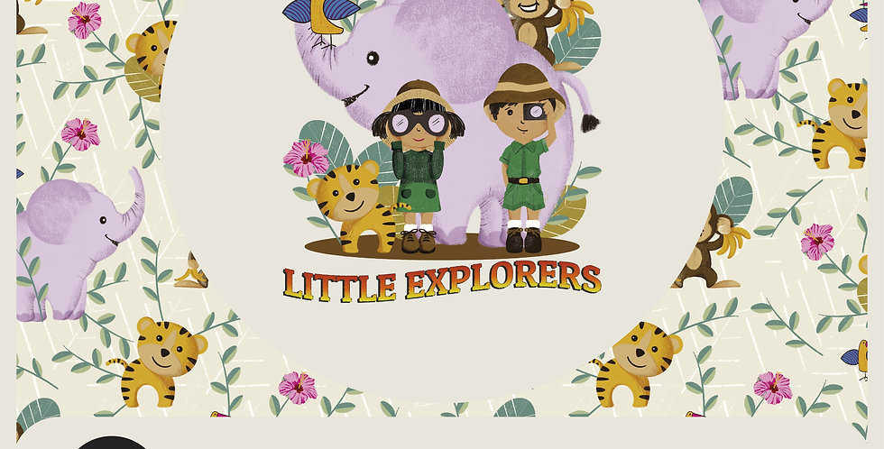 LITTLE EXPLORERS - RASTER SPOT GRAPHIC + PATTERN