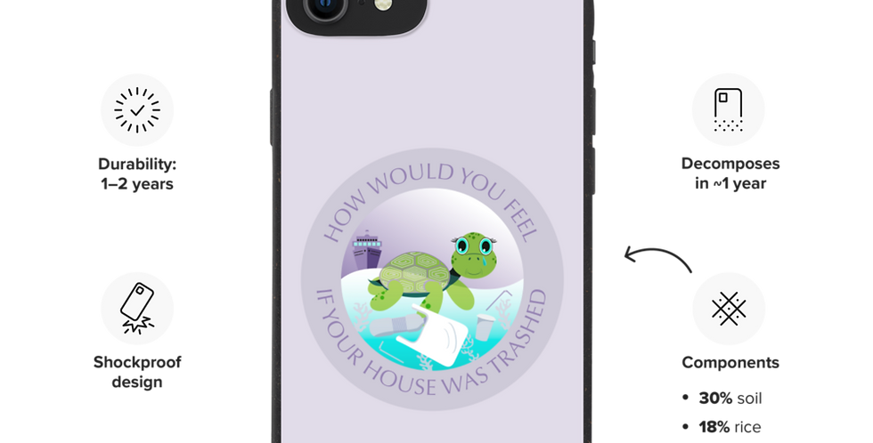 Sad Turtle - Biodegradable phone case