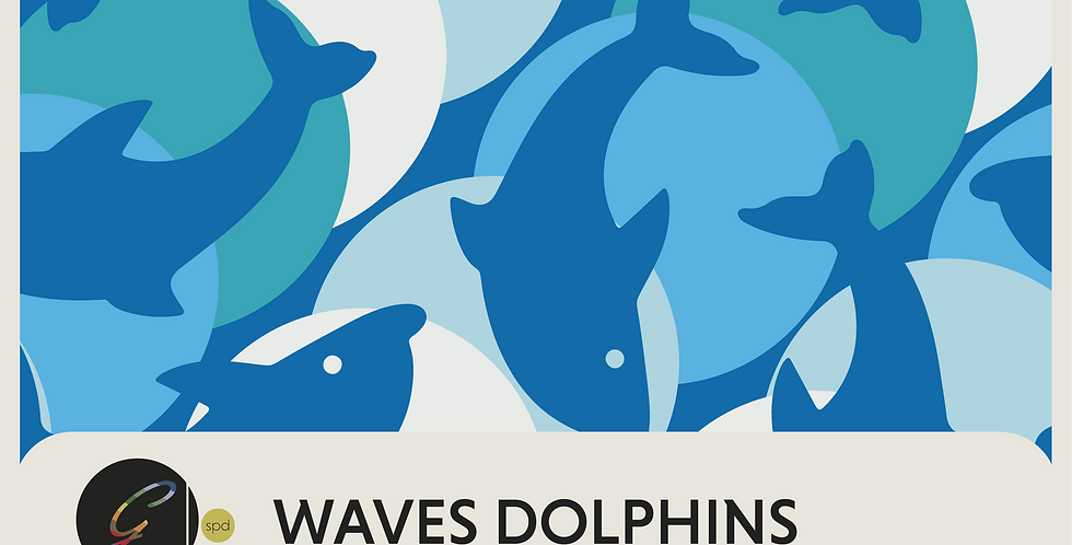 WAVES + WAVES DOLPHINS - 2 PATTERNS