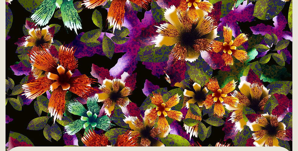 WILD FLOWERS :  DIGITAL PATTERN + SPOT GRAPHIC