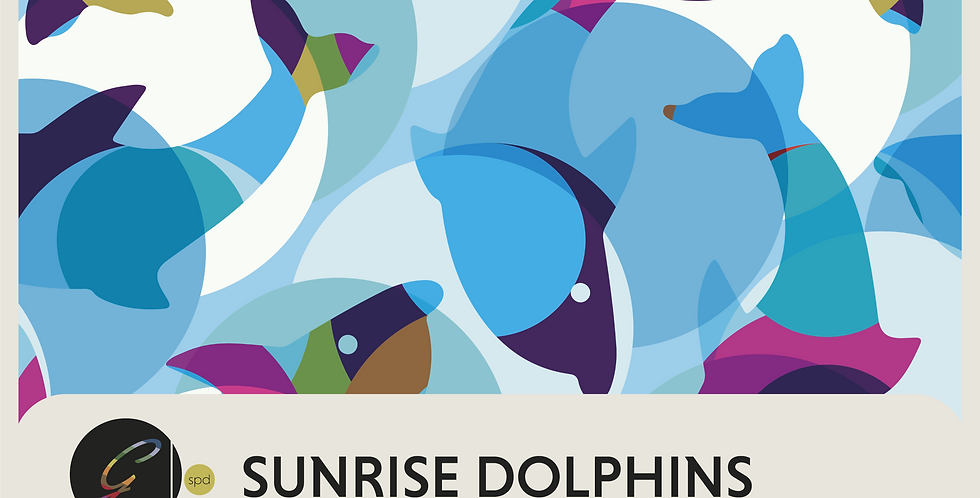 SUNSET + SUNRISE DOLPHINS- 2 DIGITAL PATTERNS