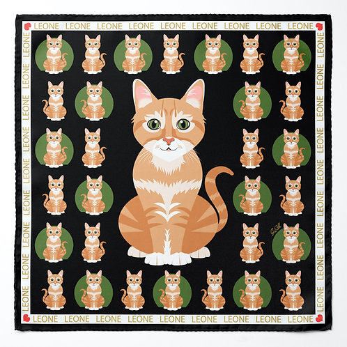 CUSTOMIZED PET SCARF WITH CENTRAL  ILLUSTRATION - by Gloria Franco