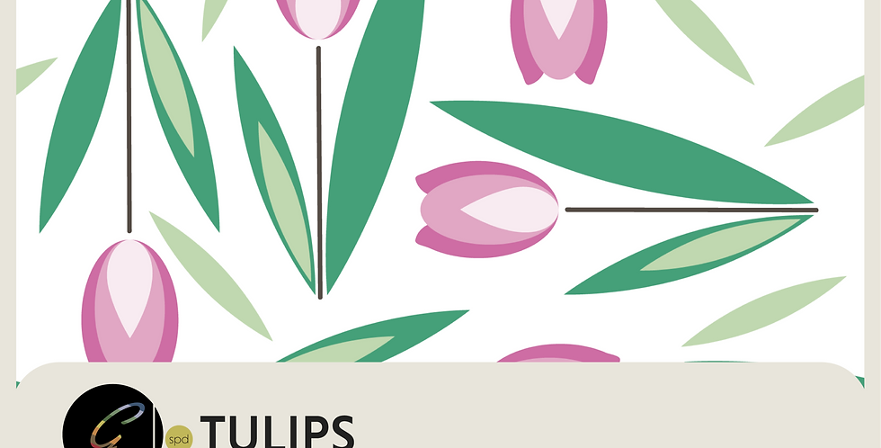 TULIPS - PATTERN + SPOT GRAPHIC