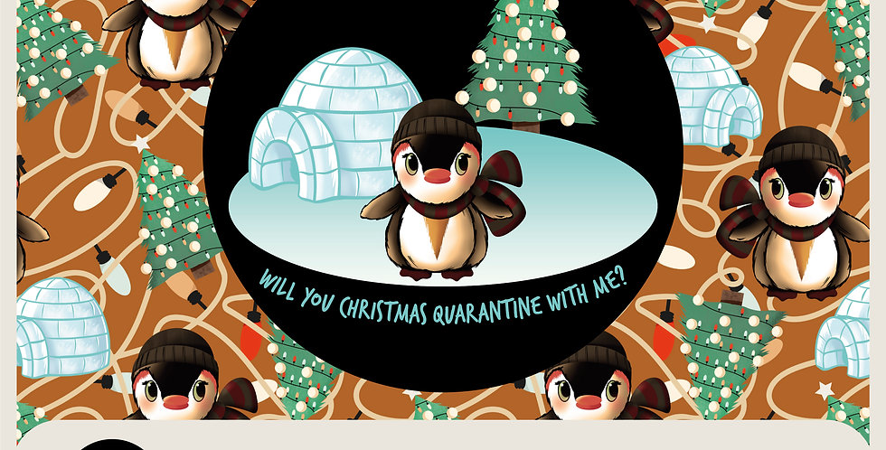 CHRISTMAS QUARANTINE - RASTER SPOT GRAPHIC + 2 PATTERNS
