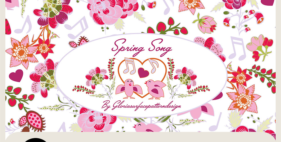 SPRING SONG COLLECTION - 18  VECTOR FACTORY READY TILES