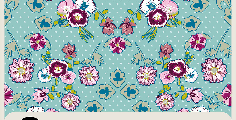 CARNATIONS - VECTOR PATTERN + 2 COLOR VARIATIONS