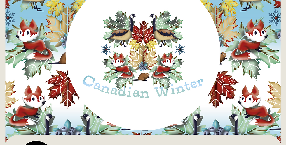 CANADIAN WINTER - RASTER SPOT GRAPHIC AND PATTERN