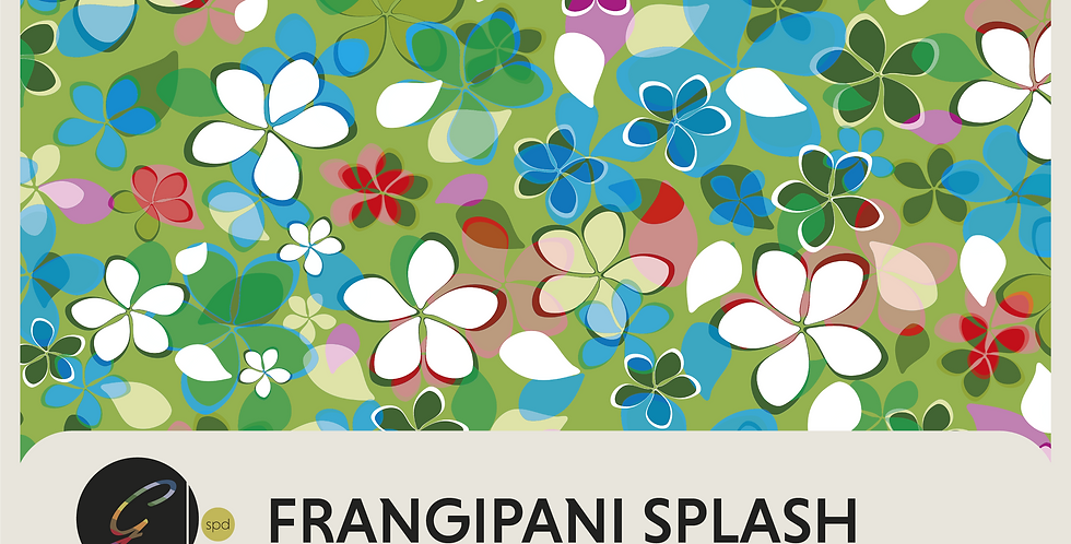 FRANGIPANI SPLASH - DIGITAL PATTERN