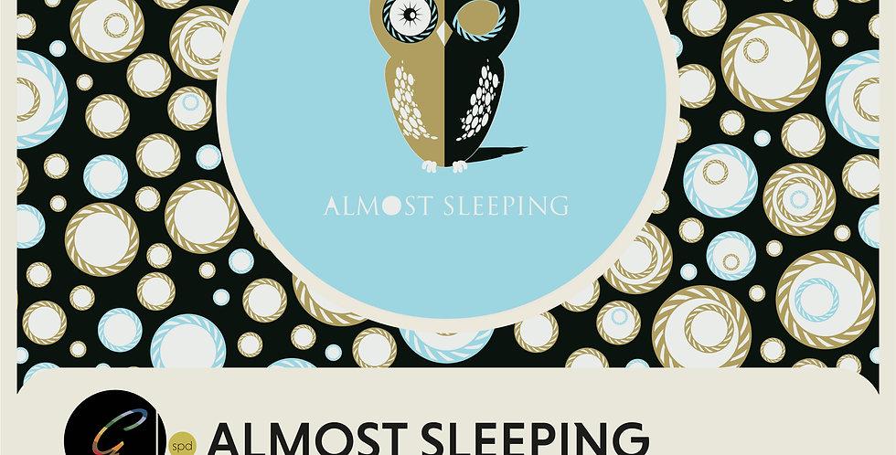 ALMOST SLEEPING - SPOT GRAPHIC +  HALF DROP REPEAT PATTERN