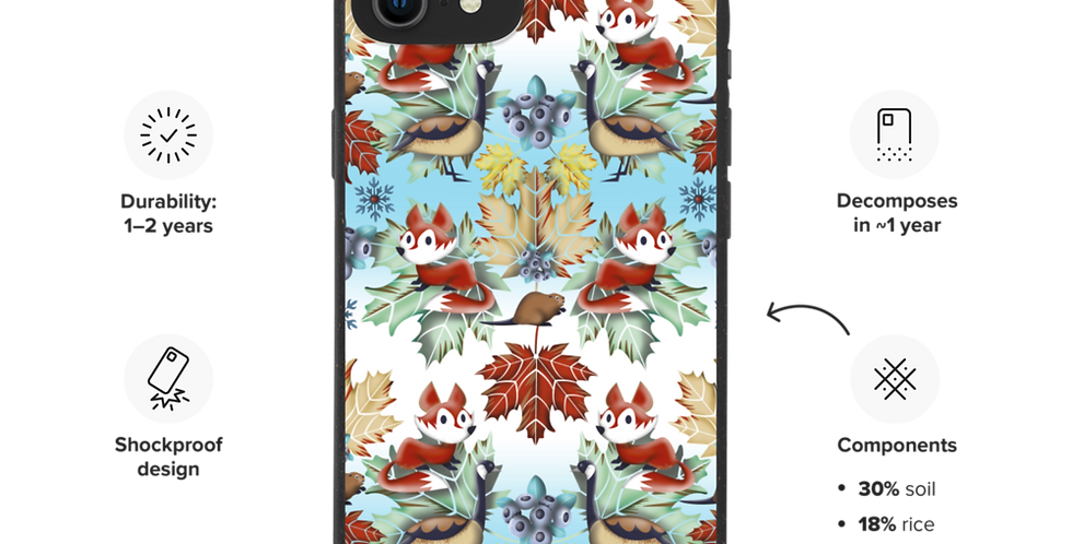 Canadian Winter - Biodegradable phone case