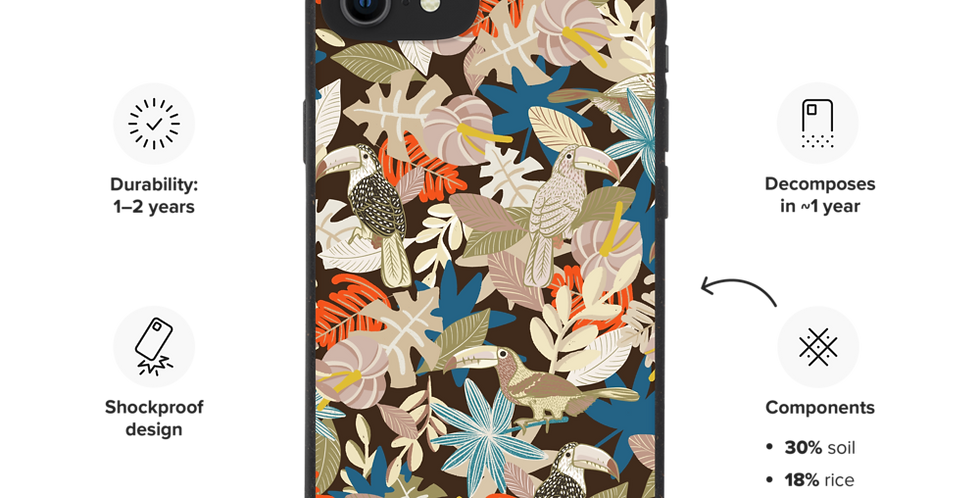 Shy Toucan Biodegradable iphone case
