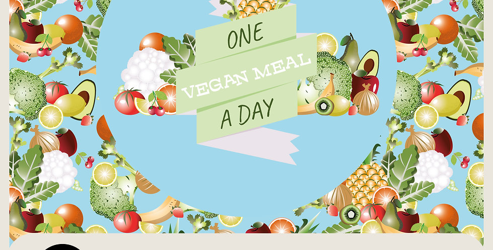 ONE VEGAN MEAL A DAY -  SPOT GRAPHIC + PATTERN