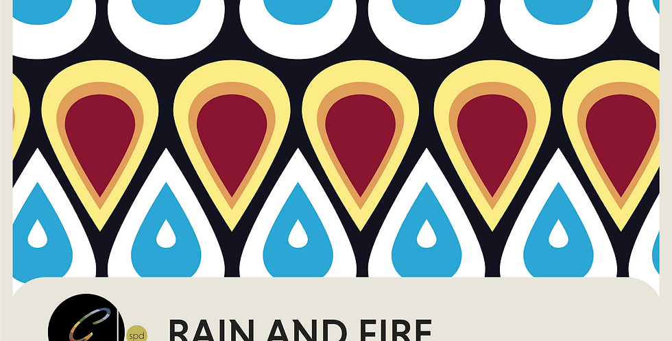 RAIN AND FIRE - PATTERN + SPOT GRAPHIC + RUGS AND TOWELS READY TO USE