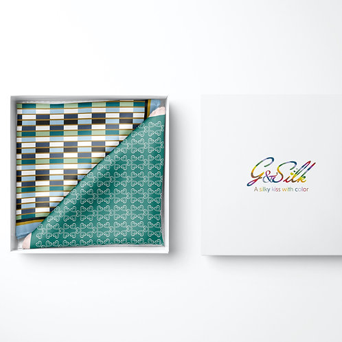 Pocket Duo Lucky Hearts + Geometric- by Gloria Franco