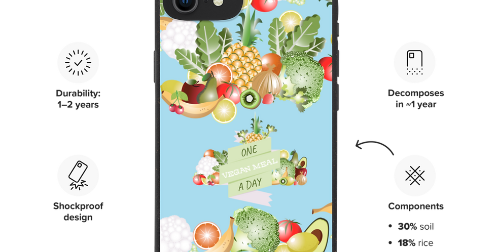 One Vegan Meal a Day - Biodegradable phone case