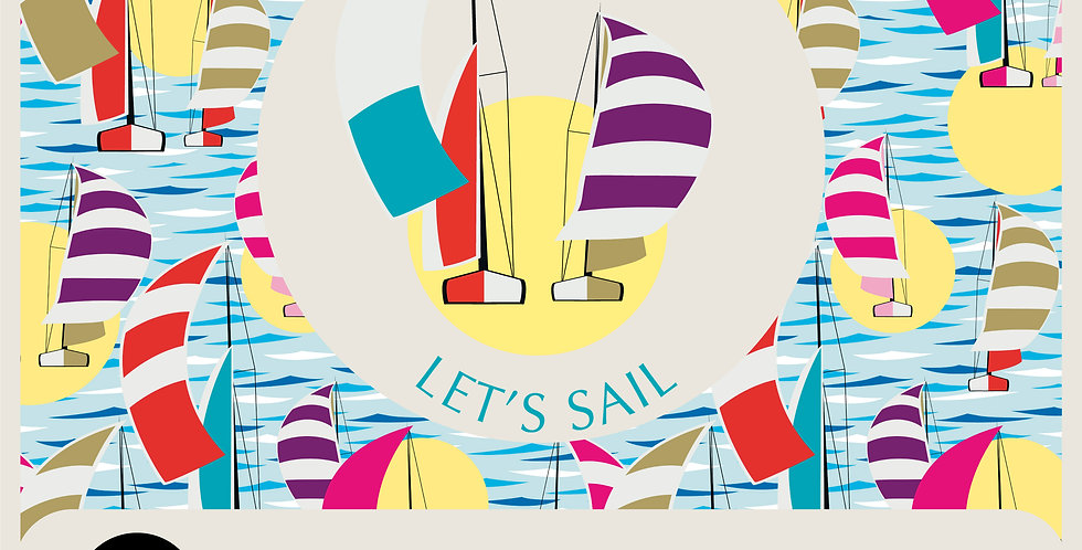 LET'S SAIL - SPOT GRAPHIC + PATTERN 100% vector