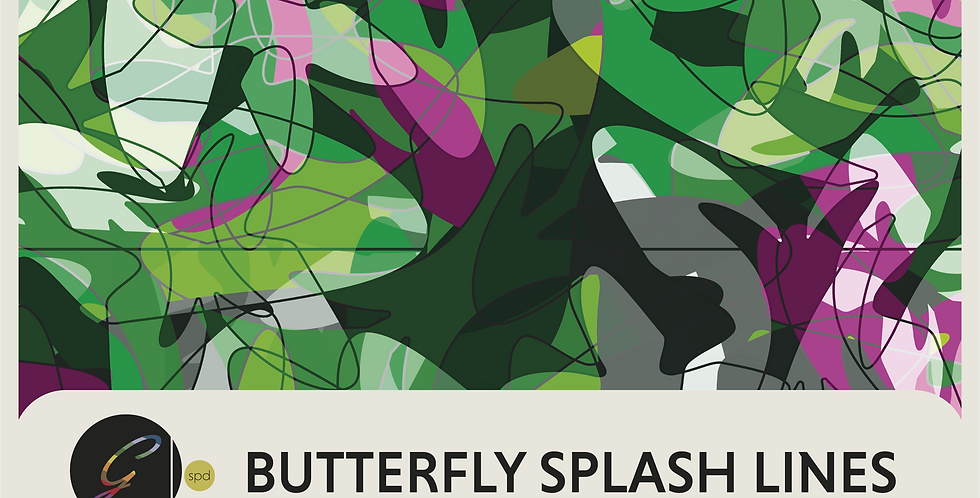 BUTTERFLY SPLASH LINES- 4 DIGITAL PATTERNS
