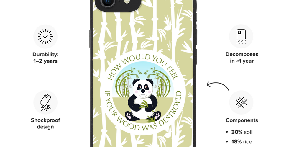 Sad Panda - Biodegradable phone case
