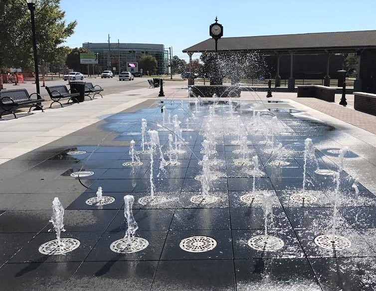 Rose District Water Feature