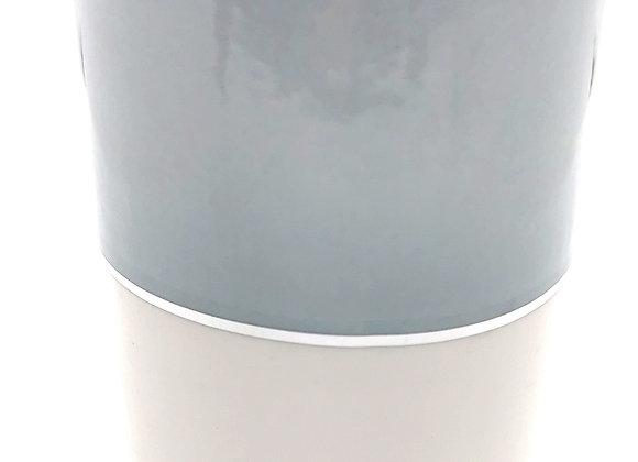 Grey & White Pillar Burner