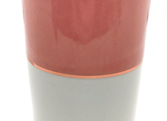 Pink & White Pillar Burner