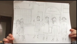 Mae's Audition Hidden Talent...Drawing!.