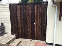 Larch timber gates