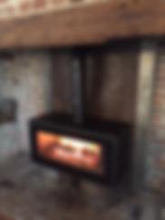 Larch firewood burning