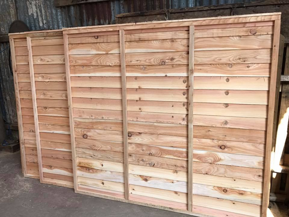 Hand made thicker larch fence panels