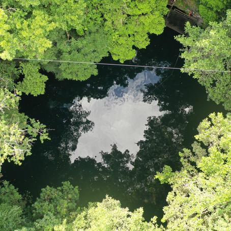 Inauguración de humedal artificial para manejo de aguas residuales en cenote Yokdzonot