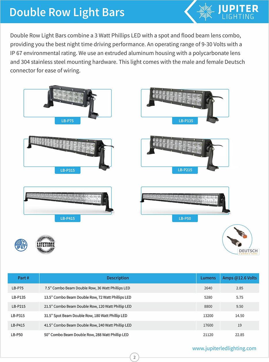 double rowed light bars, LB-P75, LB-P13, LB-P31, LB-P25, LB-P415,LB-P50,