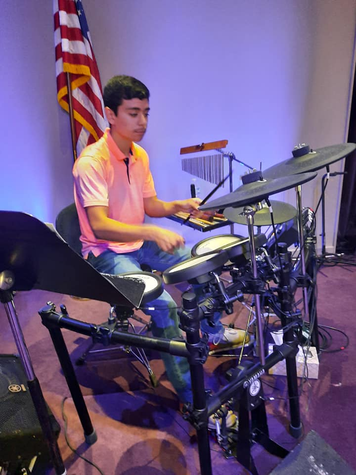 DJ on the drums