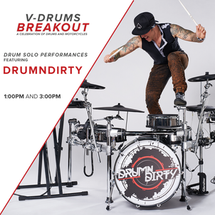DRUMNDIRTY HEADLINING ROLAND VDRUMS 20TH ANNIVERSARY