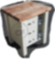 Blackwood top kitchen unit with spice ra