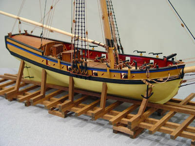 Model Shipways kit, Armed Virginia Sloop